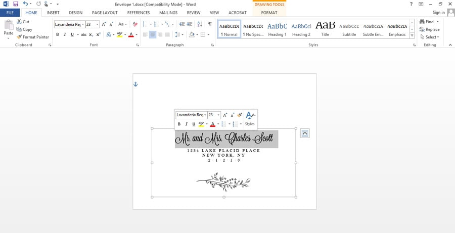 Easy printable envelope template pipkin paper company why hire a professional calligrapher when you can make your own printable envelope template and address pronofoot35fo Gallery