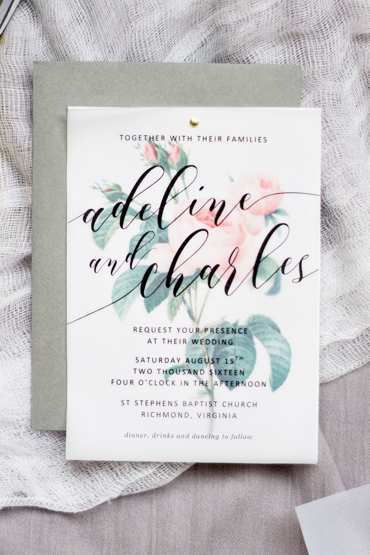 DIY FLORAL WEDDING INVITATIONS | Pipkin Paper Company