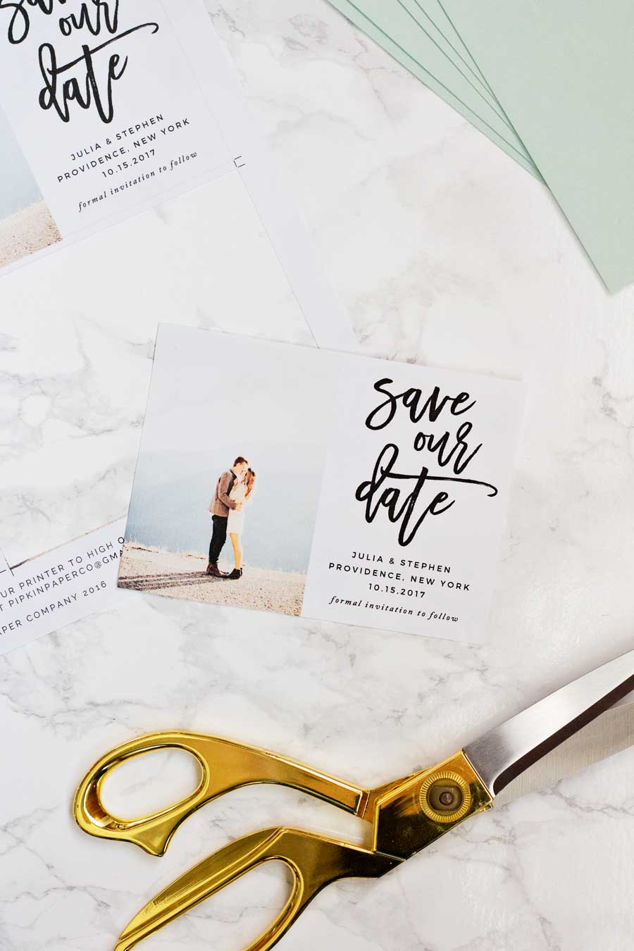 HOW TO MAKE YOUR OWN SAVE THE DATE MAGNETS PLUS A FREEBIE - Design your own save the date template