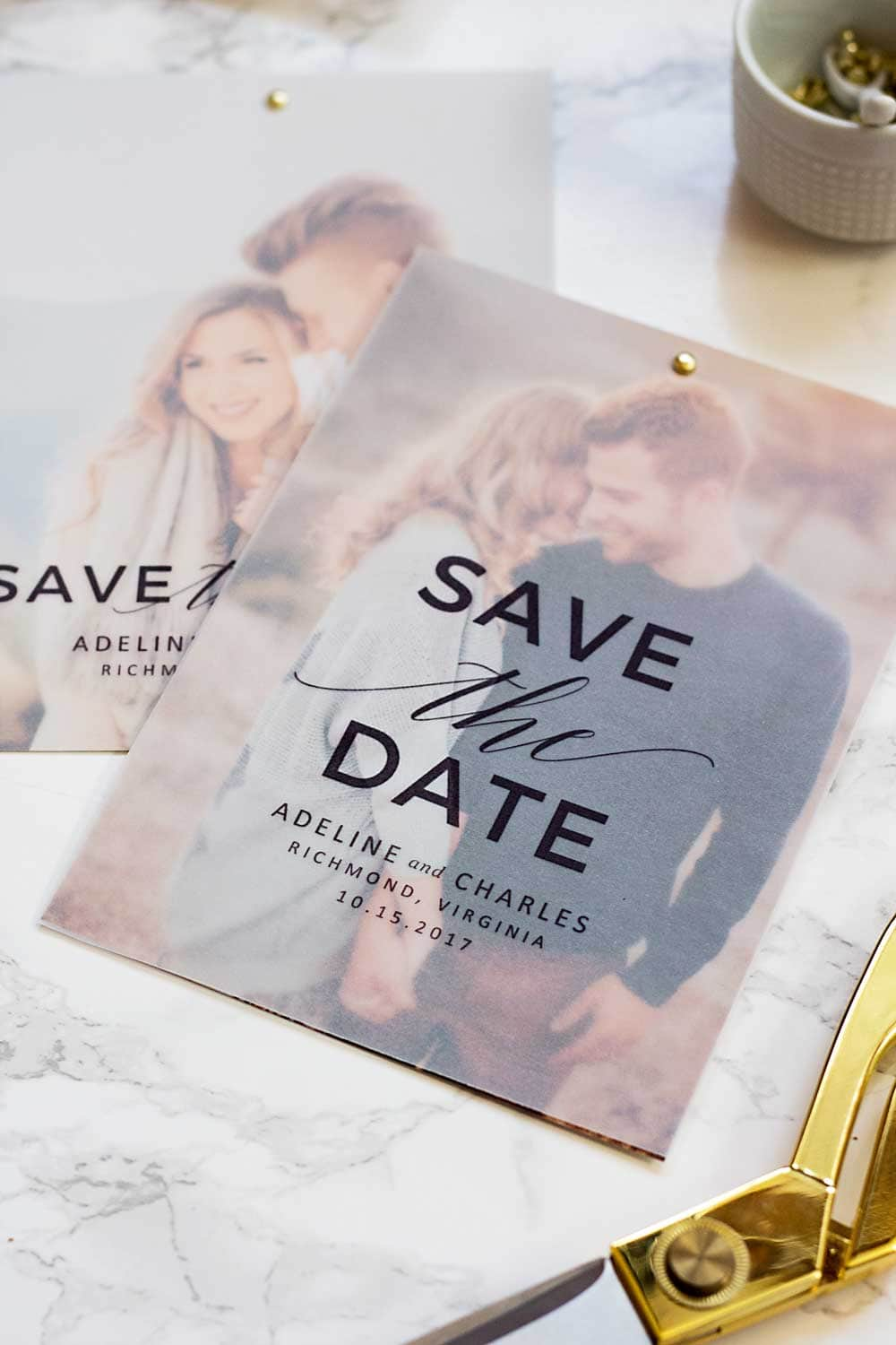 FREE VELLUM SAVE THE DATES Pipkin Paper Company