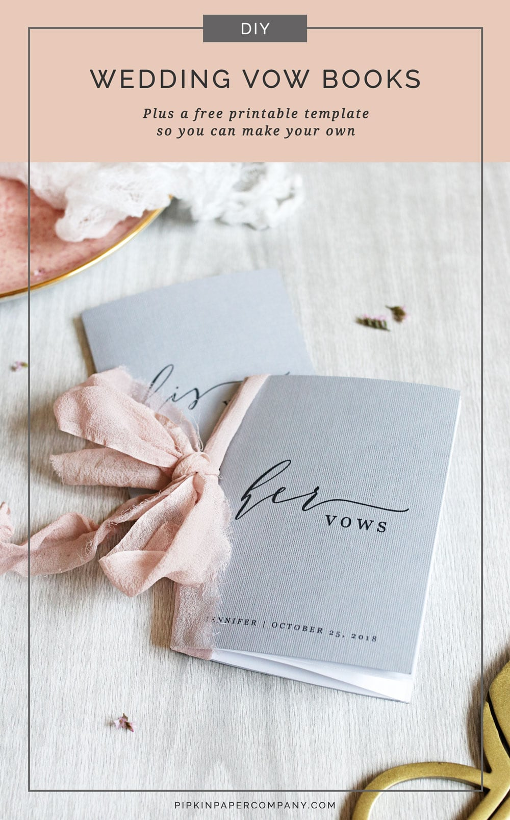 Diy Vow Books For Your Wedding Day Pipkin Paper Company