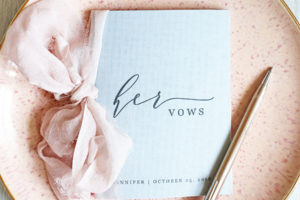 DIY VOW BOOKS FOR YOUR WEDDING DAY