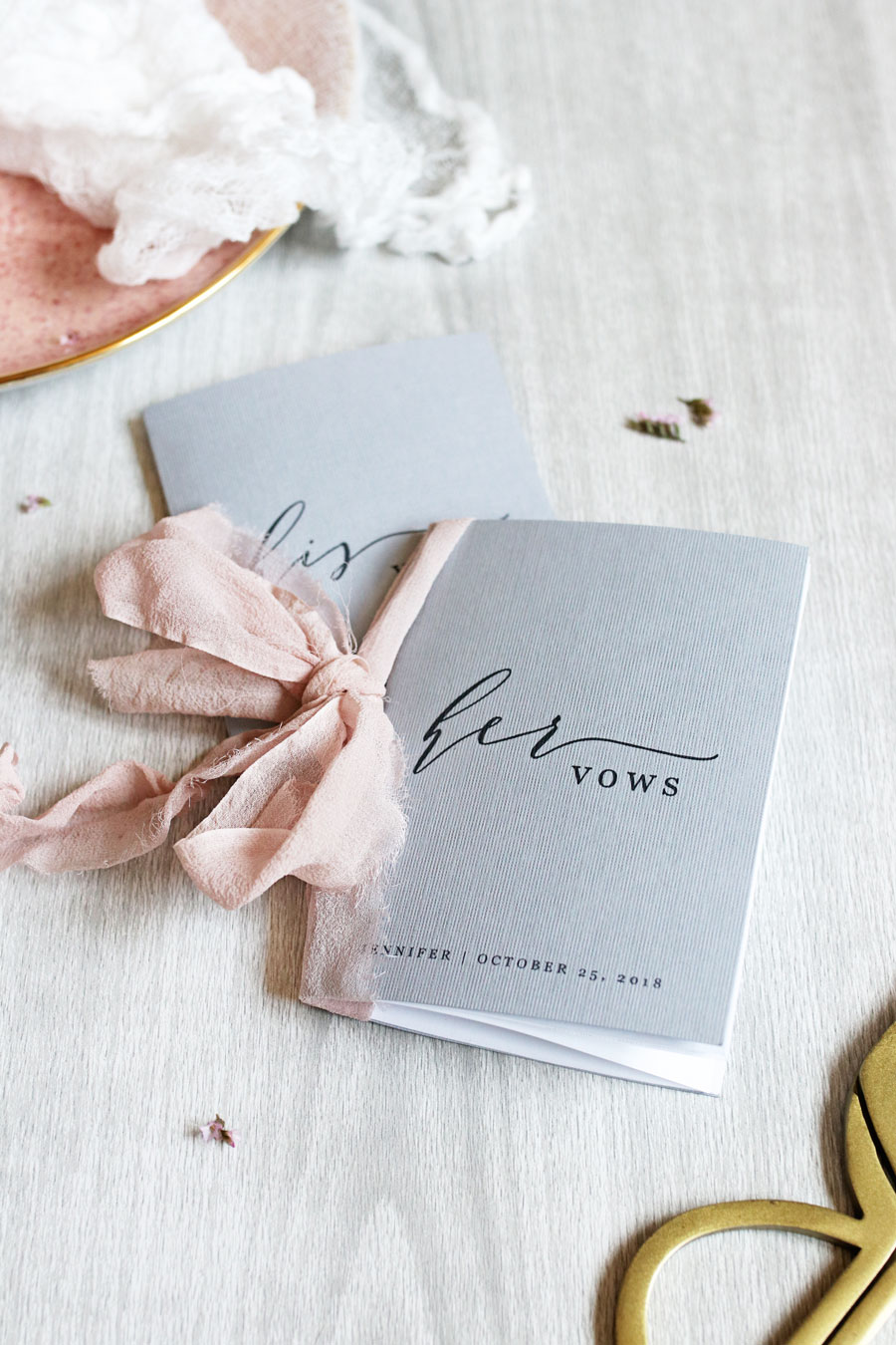 Looking for ways to make your wedding ceremony more special? Make these dreamy diy vow books to record your vows and cherish them for years to come.