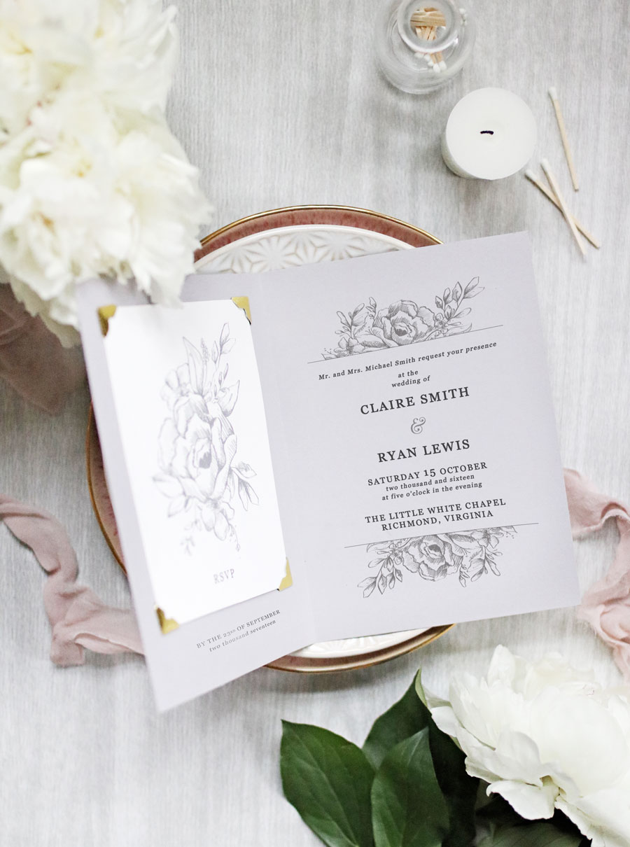 FOLDED WEDDING INVITATIONS | Pipkin Paper Company