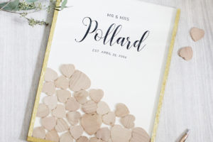 HOW TO MAKE A DIY HEART DROP GUEST BOOK