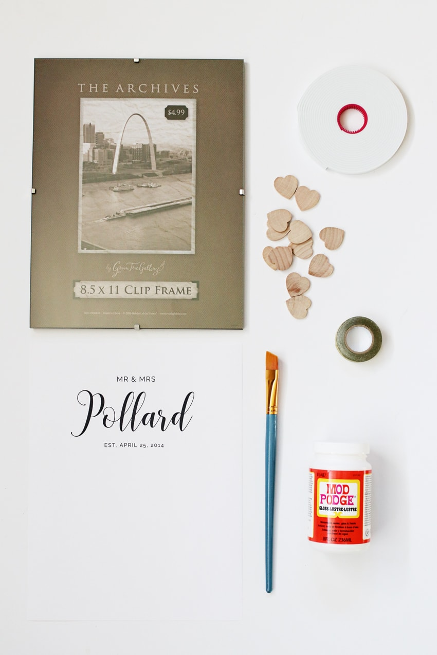 Save money and make your own DIY heart drop guest book with this easy tutorial. Then hang it on your wall and cherish it for years to come.
