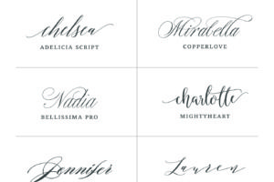 THE BEST FONTS FOR WEDDING INVITATIONS