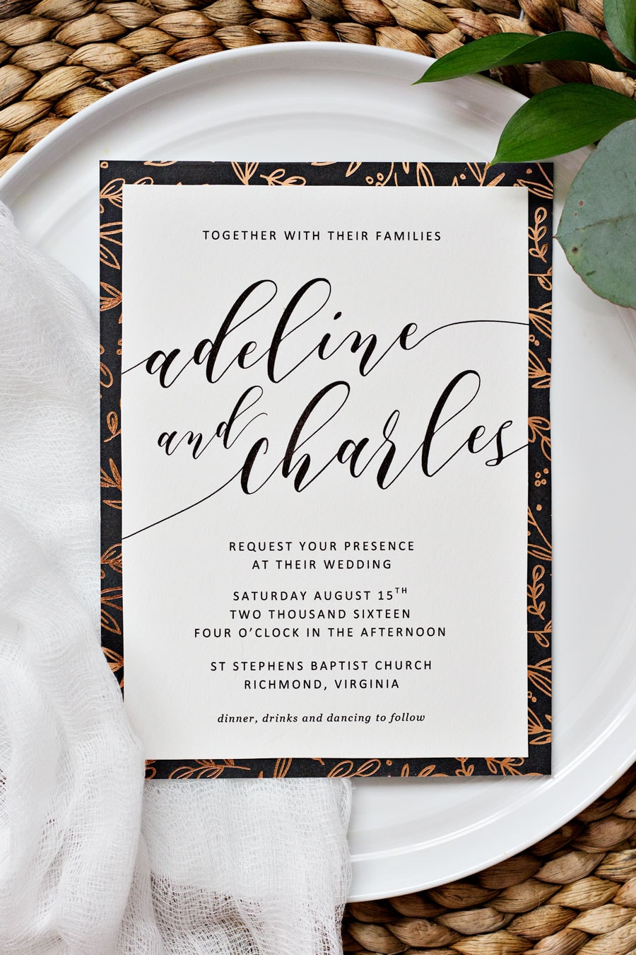 To Spruce Up Your Printable Wedding Invitations We Recommend Adding Glitz And Charm By Creating