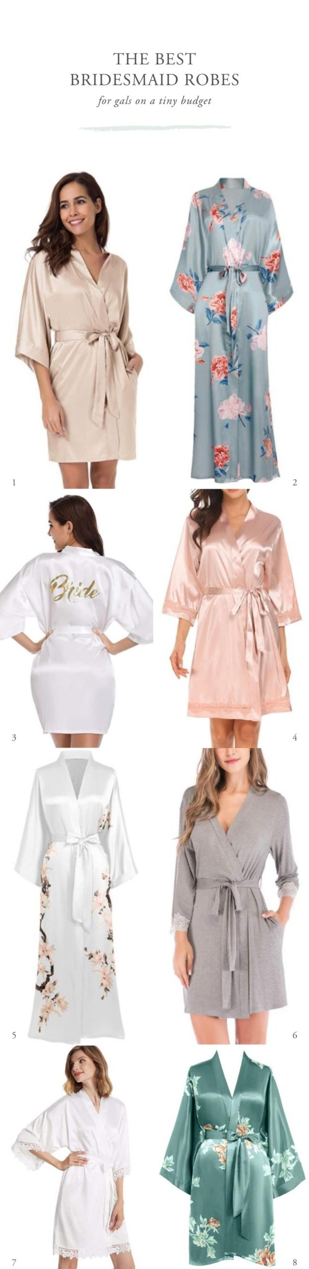 The Best Bridesmaid Robes For Cheap Pipkin Paper Company