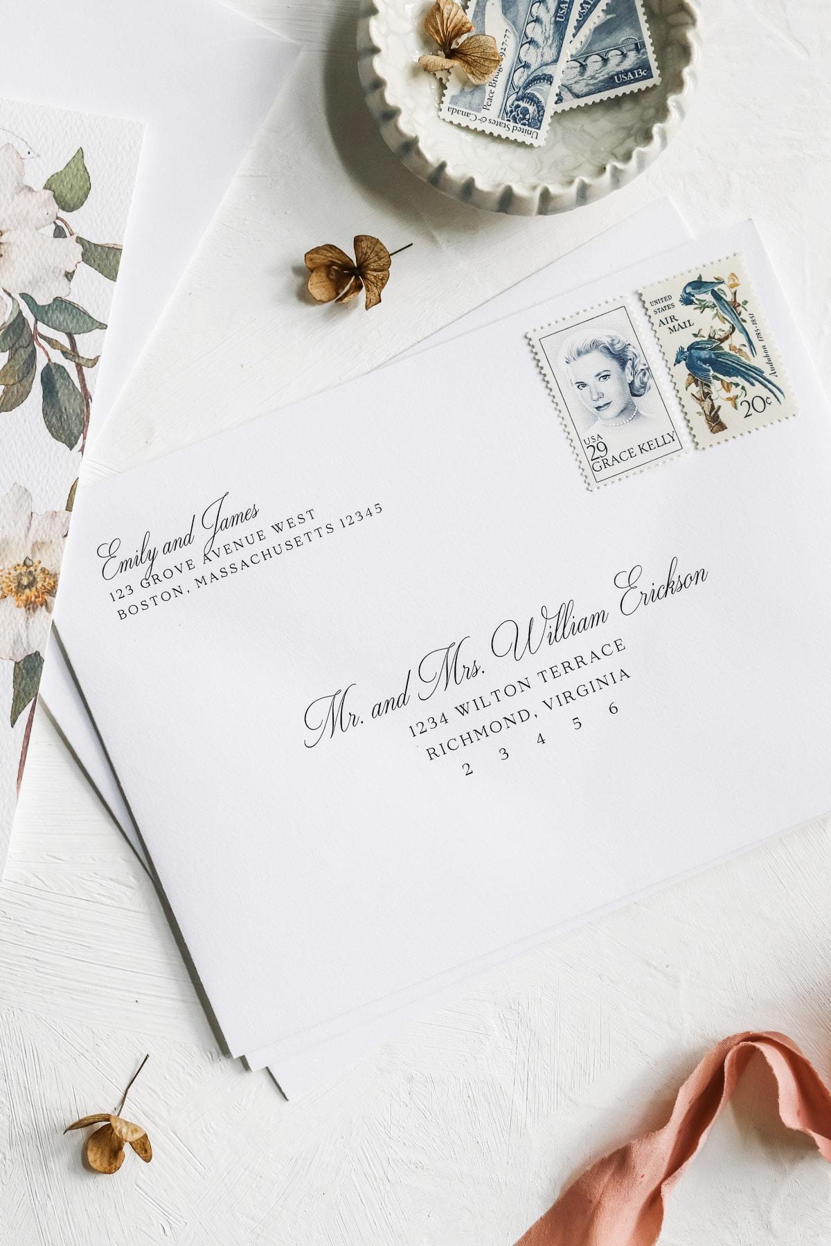 Printable Wedding Envelope Template DIY Wedding Address Envelope Printable Address Envelope Instant Download Printable Envelope